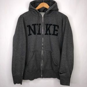 Nike Zip Up Hooded Gray